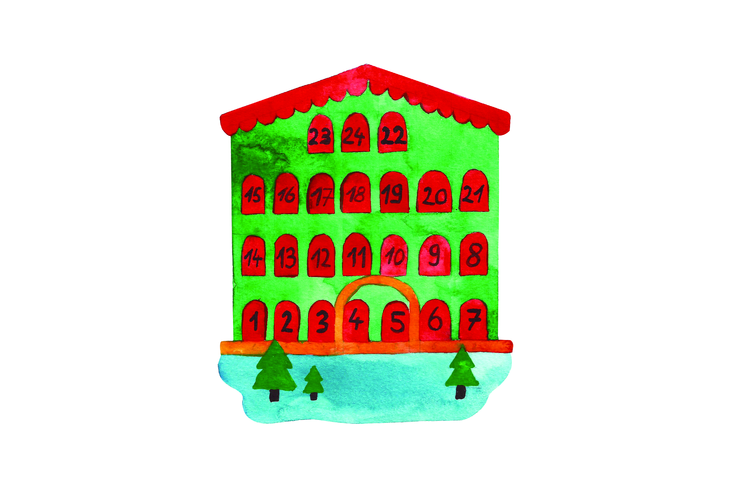 Download Free Advent Calendar House Svg Cut File By Creative Fabrica Crafts SVG Cut Files