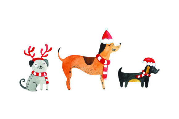 Christmas Dogs Christmas Craft Cut File By Creative Fabrica Crafts