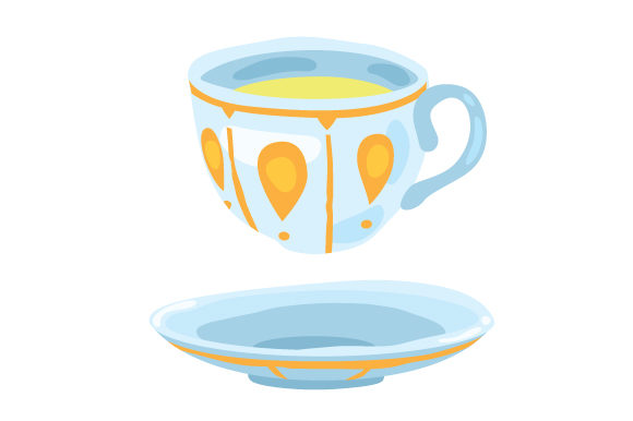Download Free Teacup Floating Over A Plate Svg Cut File By Creative Fabrica SVG Cut Files