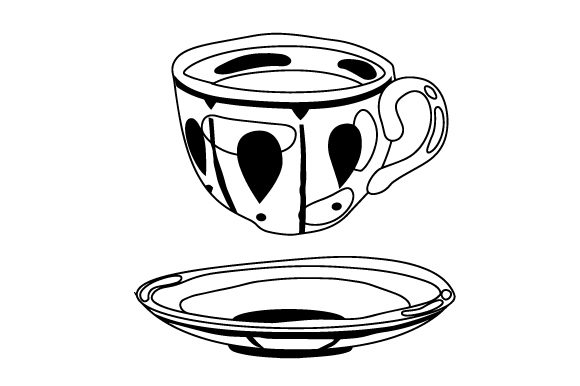 Download Free Teacup Floating Over A Plate Svg Cut File By Creative Fabrica for Cricut Explore, Silhouette and other cutting machines.