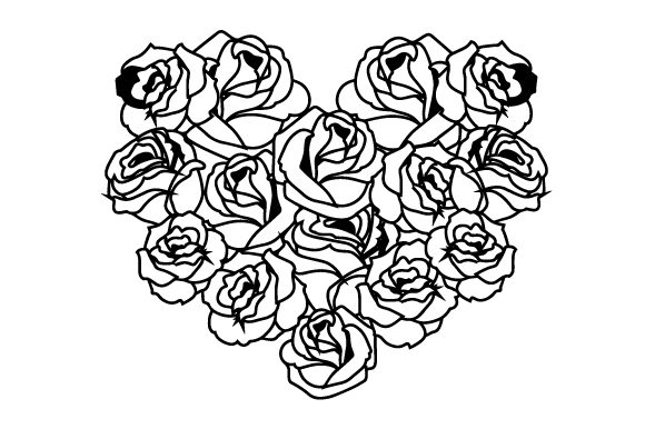 Download Free Heart Made Of Roses Svg Cut File By Creative Fabrica Crafts for Cricut Explore, Silhouette and other cutting machines.