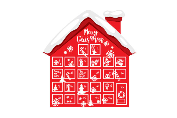 Advent Calendar House Christmas Craft Cut File By Creative Fabrica Crafts