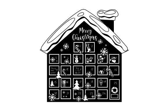 Advent Calendar House Christmas Craft Cut File By Creative Fabrica Crafts - Image 2
