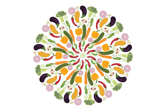 Vegetables (mandala Style) Mandalas Craft Cut File By Creative Fabrica Crafts - Image 1