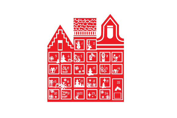 Advent Calendar Canal Houses Christmas Craft Cut File By Creative Fabrica Crafts - Image 1