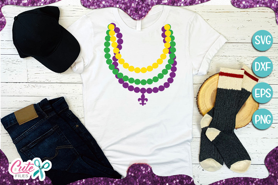 Download Free Beaded Necklace And Template Graphic By Cute Files Creative for Cricut Explore, Silhouette and other cutting machines.