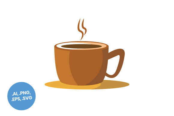 Print on Demand: Coffee Cup Brown Flat Icon Graphic Icons By sasongkoanis
