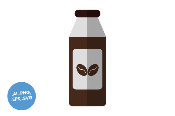 Download Free Coffee Bottle Flat Icon Graphic By Sasongkoanis Creative Fabrica for Cricut Explore, Silhouette and other cutting machines.