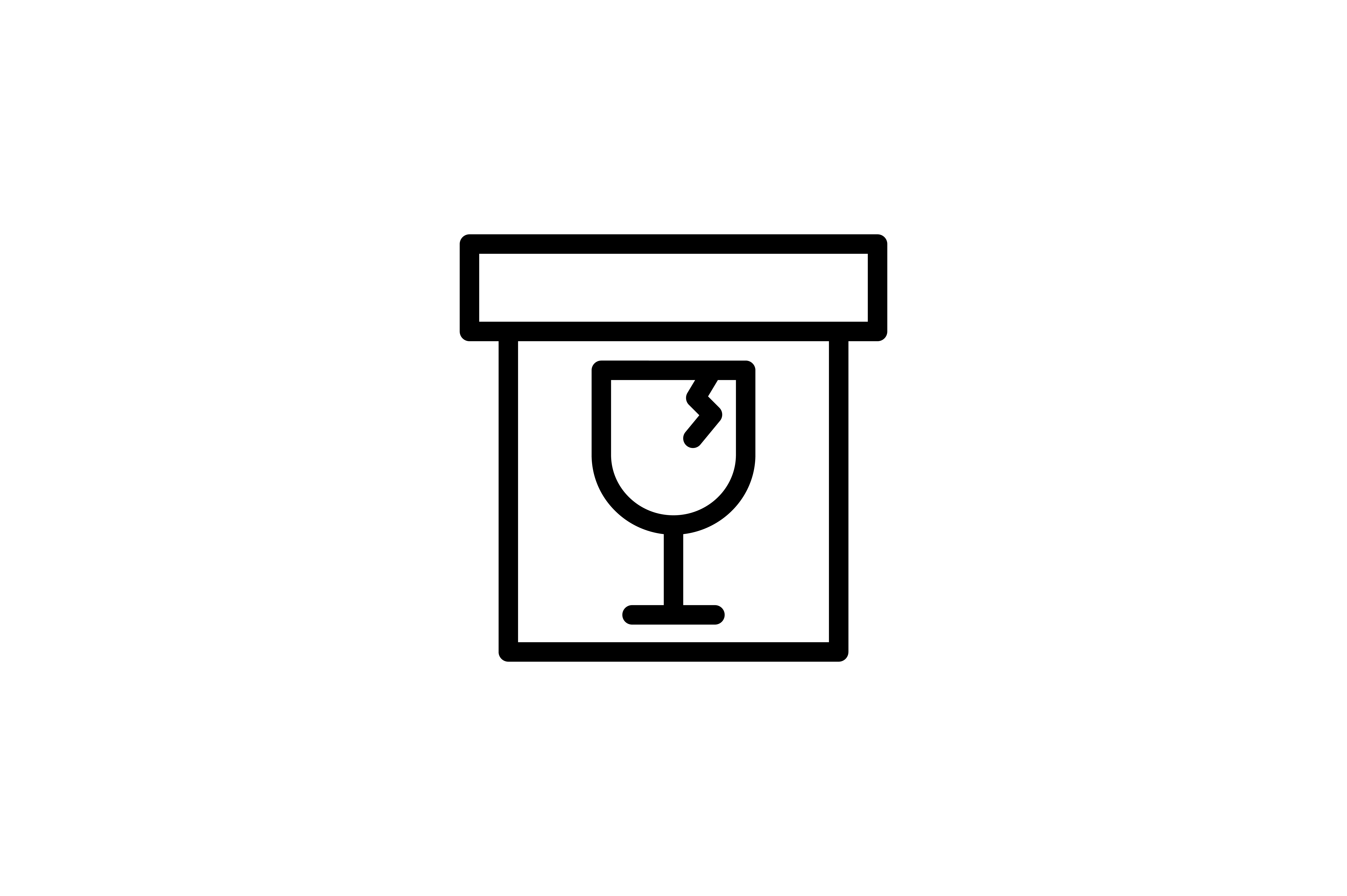 Logistic And Delivery Glass In A Box Icon Graphic By