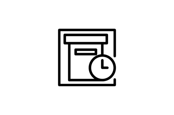 Download Free Logistic And Delivery Box On Time Icon Graphic By Alvianugrah30 for Cricut Explore, Silhouette and other cutting machines.