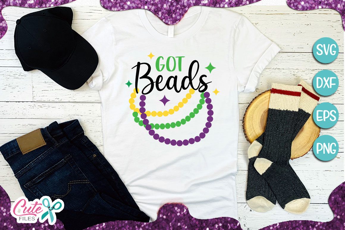 Download Free Got Beads Mardi Gras Svg Graphic By Cute Files Creative Fabrica for Cricut Explore, Silhouette and other cutting machines.