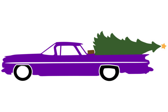 Download Free 1959 Classic Truck Car W Christmas Tree Graphic By for Cricut Explore, Silhouette and other cutting machines.