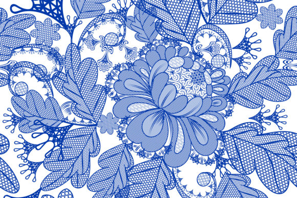 Vector Lace Pattern with Filigree Design Graphic Patterns By fleurartmariia