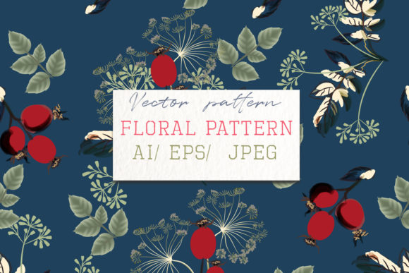 Beautiful Floral Vector Pattern Flowers Graphic Patterns By fleurartmariia