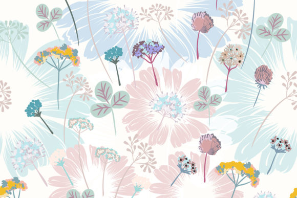 Download Free Beautiful Floral Vector Pattern Flowers Graphic By for Cricut Explore, Silhouette and other cutting machines.