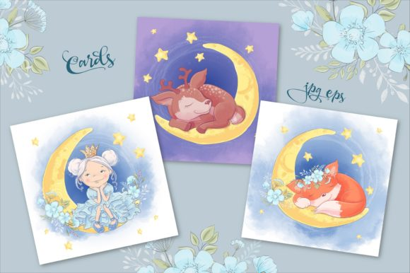 Print on Demand: Sweet Dreams – Vector Clip Art Graphic Illustrations By nicjulia - Image 2