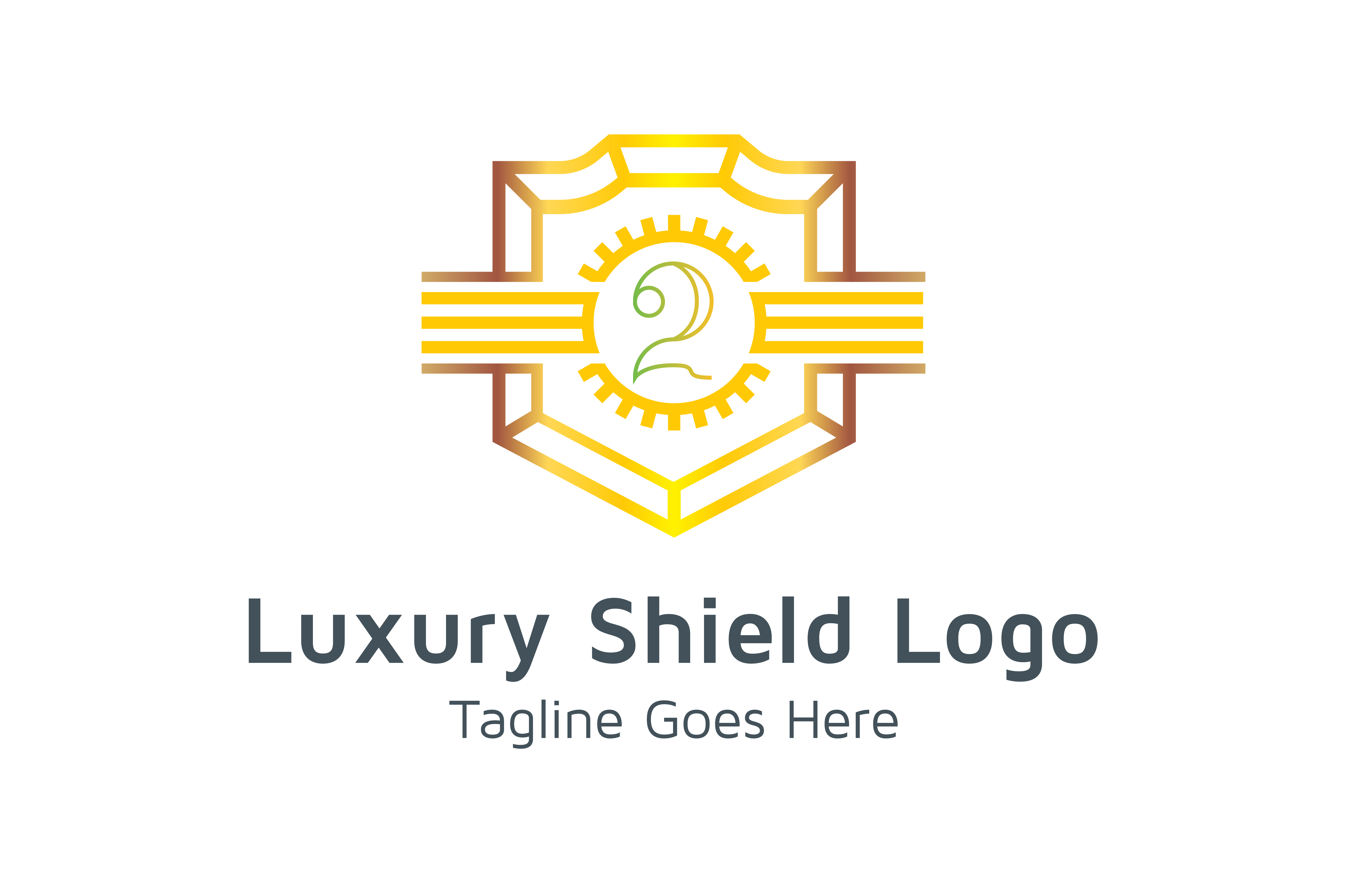 Download Free Luxury Shield Logo Number 2 Graphic By Thehero Creative Fabrica for Cricut Explore, Silhouette and other cutting machines.
