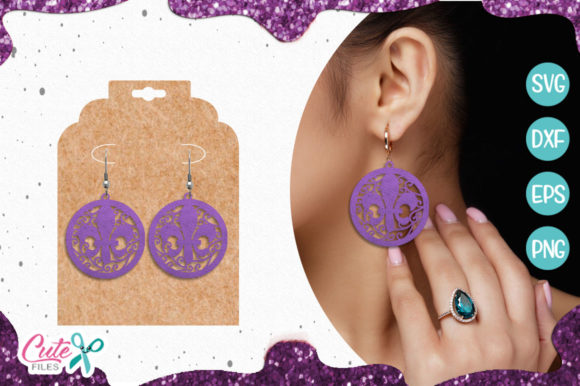 Mardi Gras Earring Templante Graphic Illustrations By Cute files