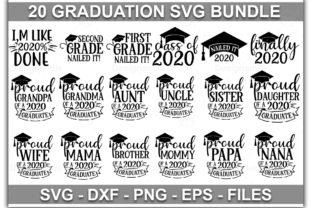 Download Free Graduation Bundle Graphic By Designdealy Com Creative Fabrica for Cricut Explore, Silhouette and other cutting machines.