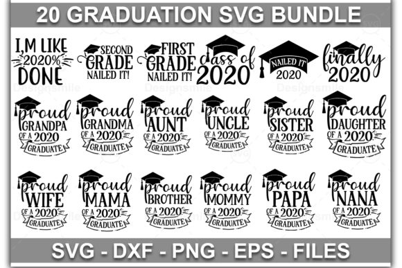 Print on Demand: Graduation SVG Bundle Graphic Print Templates By Designdealy.com