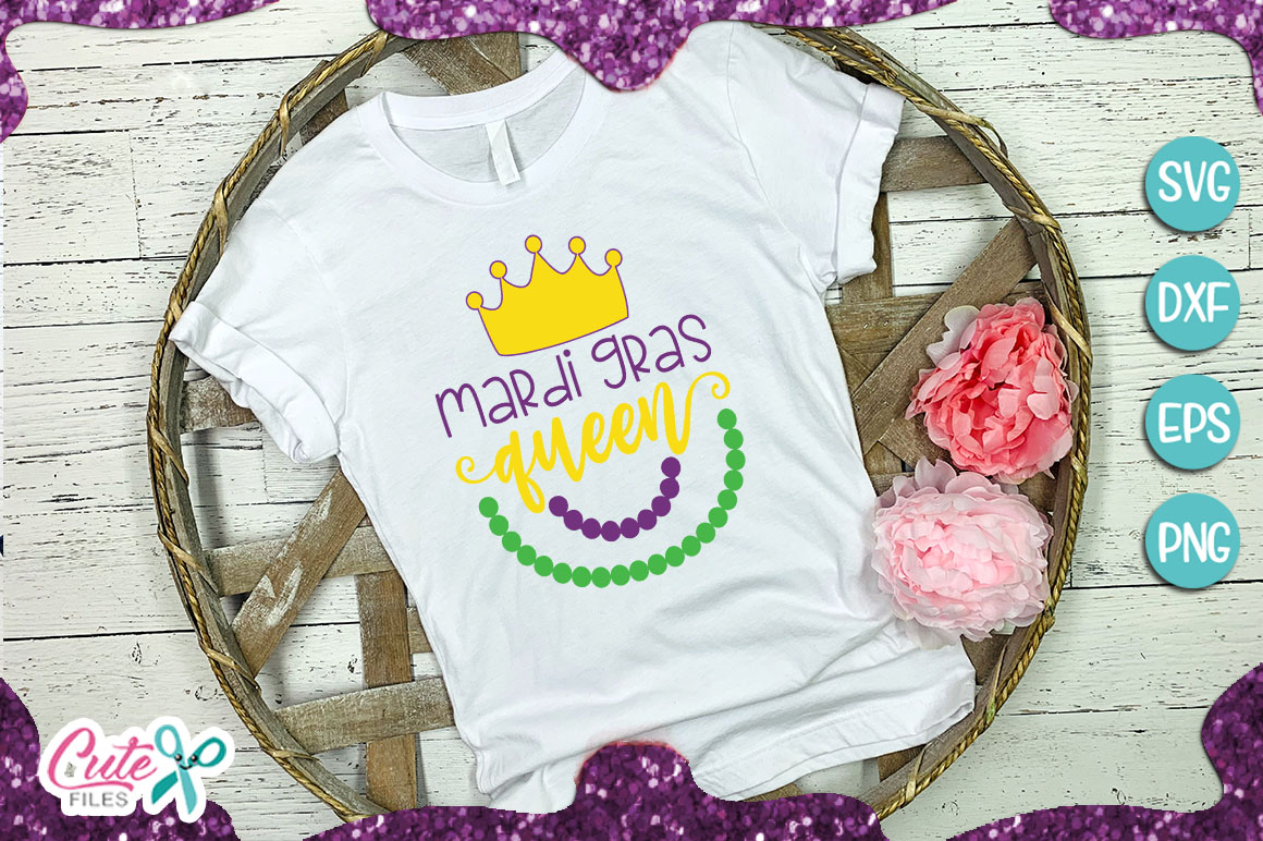 Download Free Mardi Gras Queen Svg Graphic By Cute Files Creative Fabrica for Cricut Explore, Silhouette and other cutting machines.