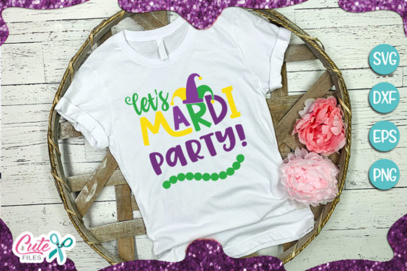 Lets Mardi Party! Graphic Illustrations By Cute files - Image 1
