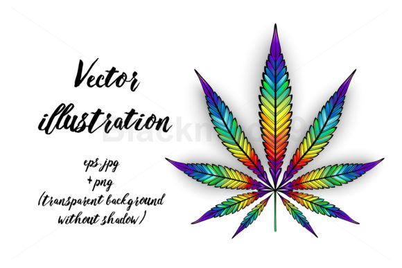 Download Free Cannabis Rainbow Leaf Graphic By Blackmoon9 Creative Fabrica for Cricut Explore, Silhouette and other cutting machines.