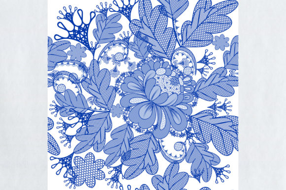 Vector Lace Pattern with Filigree Design Graphic Patterns By fleurartmariia - Image 2