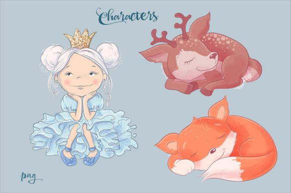 Print on Demand: Sweet Dreams – Vector Clip Art Graphic Illustrations By nicjulia - Image 3