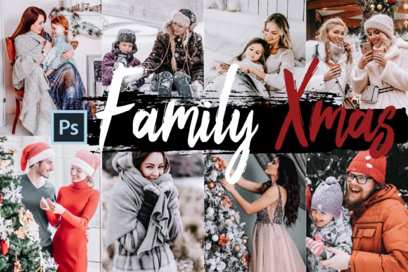 Download Free 05 Family Xmas Photoshop Actions Acr Lut Grafik Von 3motional for Cricut Explore, Silhouette and other cutting machines.