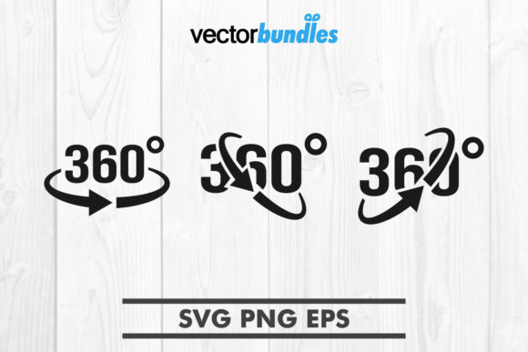 Download Free Vr 360 Degree Clip Art Graphic By Vectorbundles Creative Fabrica for Cricut Explore, Silhouette and other cutting machines.