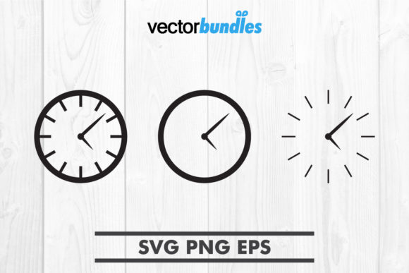 Wall Clock Clip Art Graphic Crafts By vectorbundles