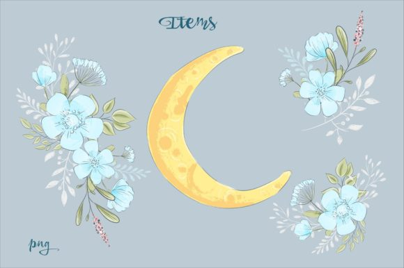 Print on Demand: Sweet Dreams – Vector Clip Art Graphic Illustrations By nicjulia - Image 4