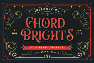 Print on Demand: Chord Brights Display Font By letterhend 1