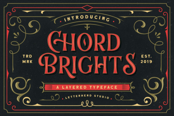 Print on Demand: Chord Brights Display Font By letterhend