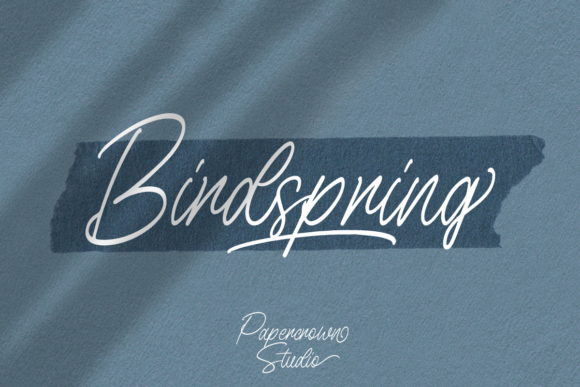 Print on Demand: Birdspring Script & Handwritten Font By Rillatype