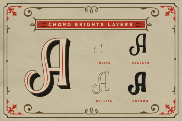 Print on Demand: Chord Brights Display Font By letterhend - Image 2