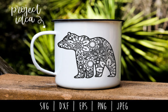 Download Free Bear Mandala Zentangle Graphic By Savoringsurprises Creative for Cricut Explore, Silhouette and other cutting machines.