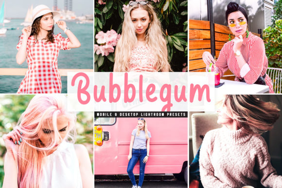 Print on Demand: Bubblegum Lightroom Presets Pack Graphic Actions & Presets By Creative Tacos