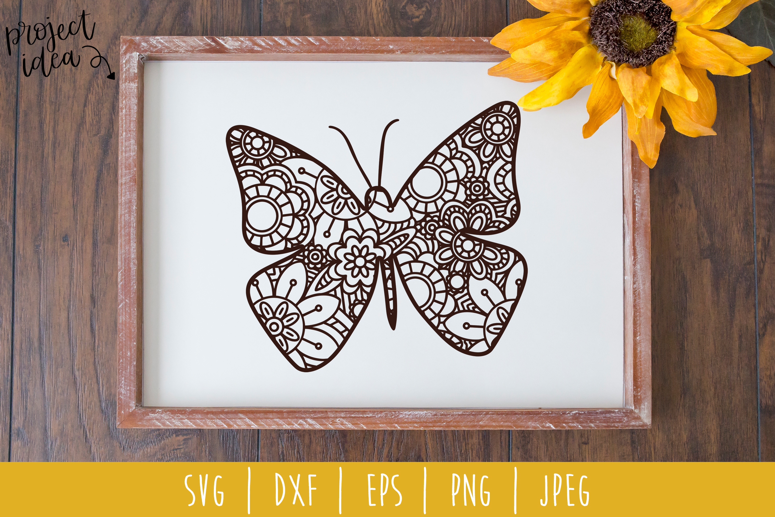Download Free Butterfly Mandala Zentangle Graphic By Savoringsurprises for Cricut Explore, Silhouette and other cutting machines.