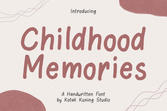 Print on Demand: Childhood Memories Display Font By Kotak Kuning Studio