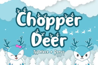 Download Free Chopper Deer Font By Kelik 7ntypes Creative Fabrica for Cricut Explore, Silhouette and other cutting machines.