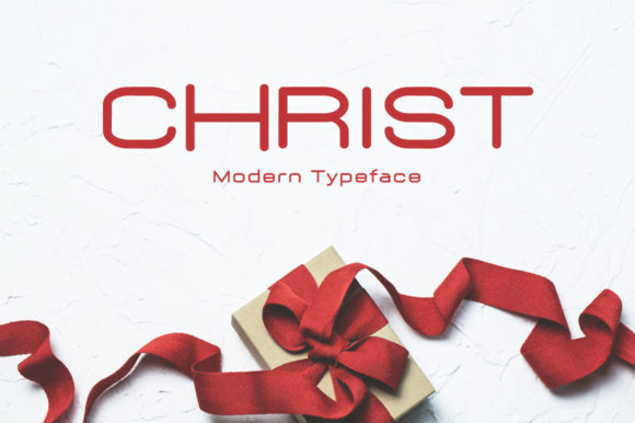 Print on Demand: Christ Display Font By Instagram Fonts