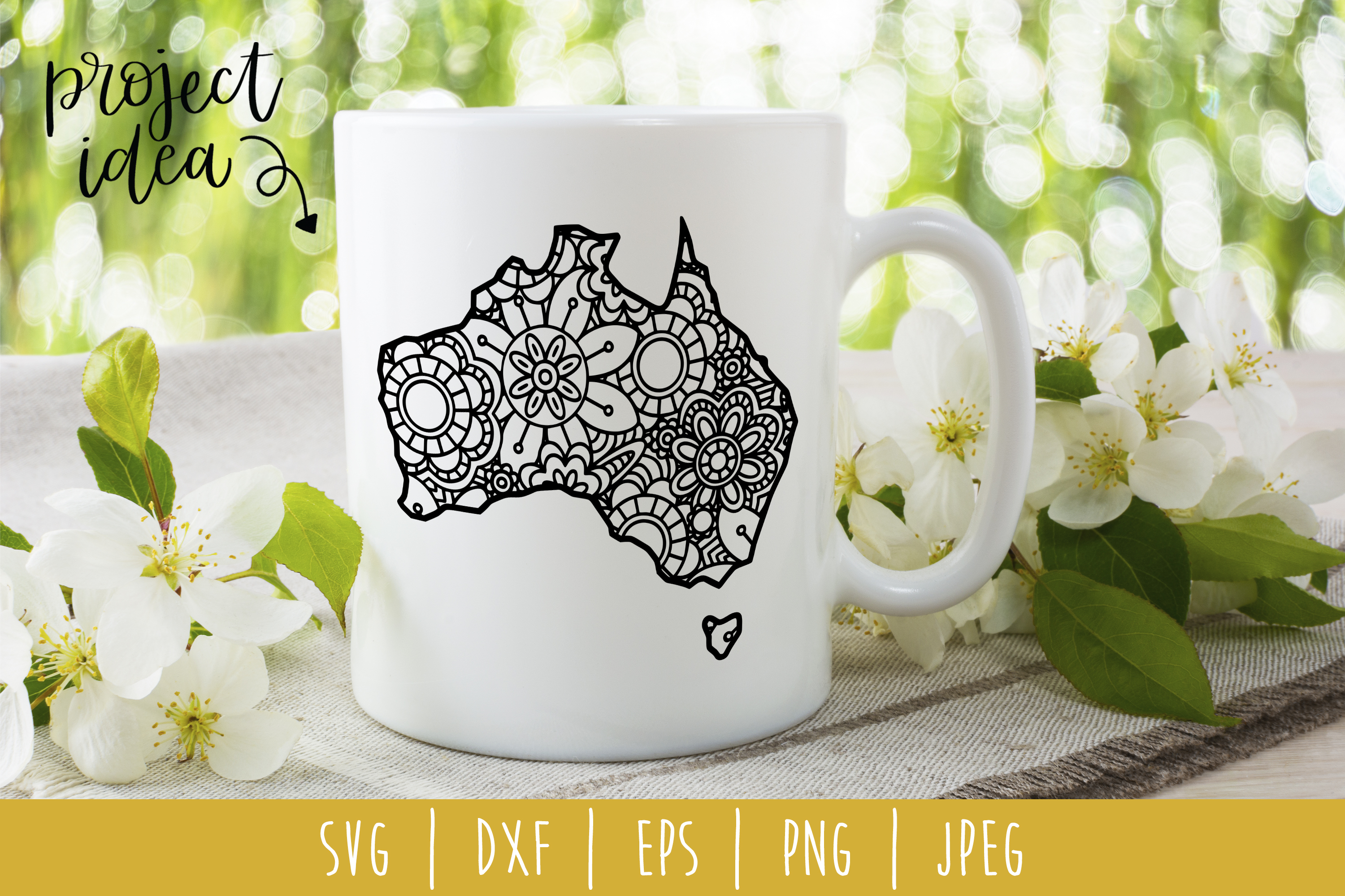 Download Free Australia Mandala Zentangle Graphic By Savoringsurprises for Cricut Explore, Silhouette and other cutting machines.