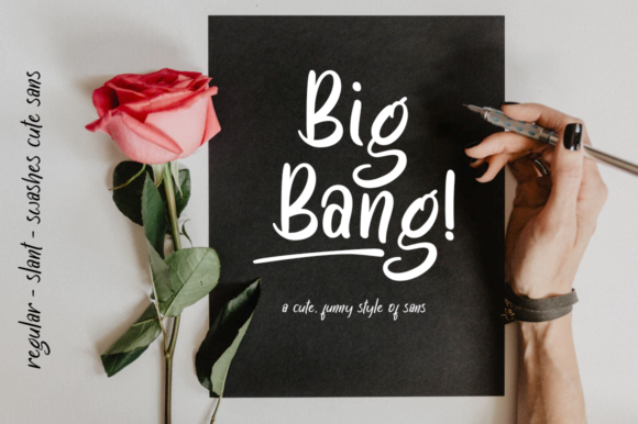 Print on Demand: Big Bang! Script & Handwritten Font By Haksen
