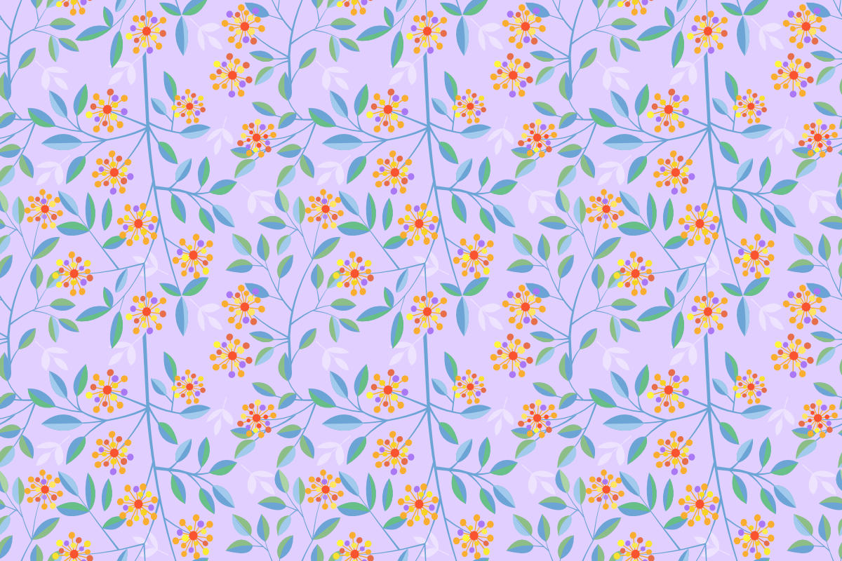 Download Free Flowers Vector Design Seamless Pattern Grafico Por Ranger262 for Cricut Explore, Silhouette and other cutting machines.