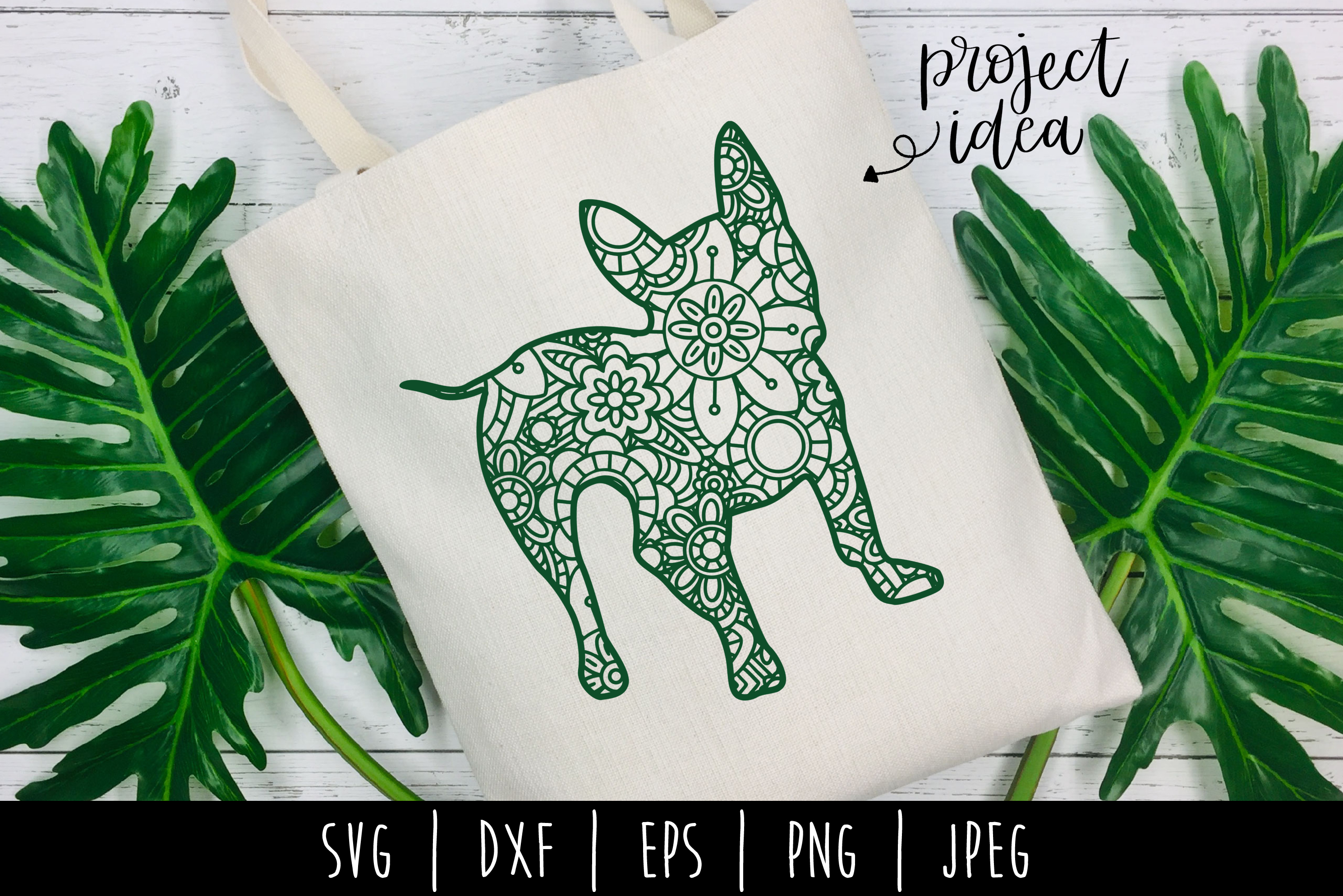 Download Free French Bulldog Mandala Zentangle Graphic By Savoringsurprises for Cricut Explore, Silhouette and other cutting machines.