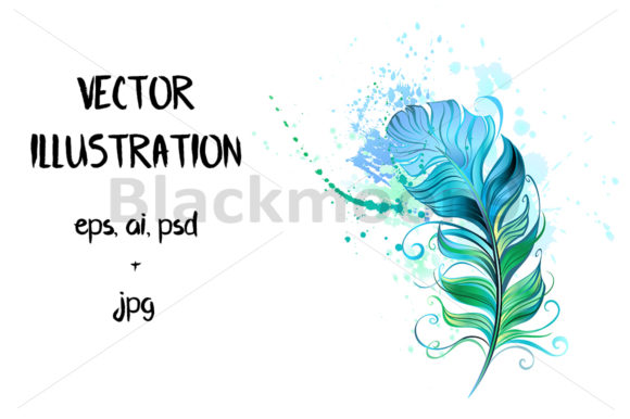 Green Feather Graphic Illustrations By Blackmoon9