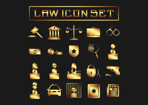 Gold Law Icon Vector Graphic Icons By Nino Studios