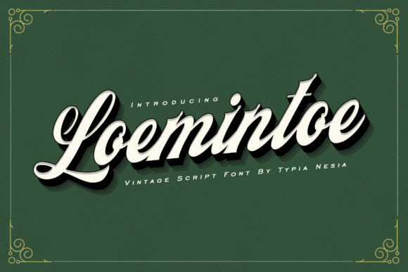 Print on Demand: Loemintoe Script & Handwritten Font By Typia Nesia